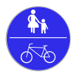 VZ 240 - Gemeinsamer Geh- und Radweg