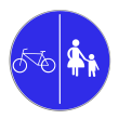 VZ 241 - Getrennter Rad- und Gehweg