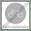 VZ 244-2 - Ende einer Fahrradstraße