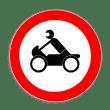 VZ 255 - Verbot für Krafträder