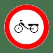 VZ 256 - Verkehrsschild Verbot für Mofas