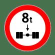 VZ 263 - Verbot für Kraftfahrzeuge über angegebene tatsächliche Achslast