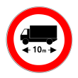 VZ 266 - Verbot für Kraftfahrzeuge über angegebene tatsächliche Länge