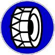 VZ 268 - Schneeketten vorgeschrieben