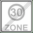 VZ 274-2 - Ende einer Tempo 30-Zone