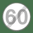 VZ 278 - Ende der zulässigen Höchstgeschwindigkeit
