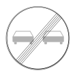 VZ 280 - Ende des Überholverbots für Kraftfahrzeuge aller Art