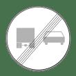 VZ 281 - Ende des Überholverbots für Kraftfahrzeuge über 3,5t