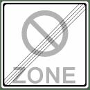 VZ 290-2 - Ende eines eingeschränkten Halteverbots für eine Zone