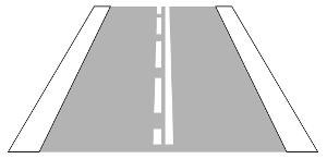 VZ 296 - Einseitige Fahrstreifenbegrenzung