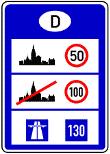 VZ 393 - Informationstafel an Grenzübergangsstellen