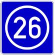VZ 406 - Knotenpunkte der Autobahnen