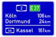 VZ 453 - Entfernungstafel