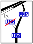 VZ 466 - Bedarfsumleitungstafel