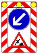 VZ 615 - Fahrbare Absperrtafel