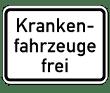 VZ 1026-34 - Krankenfahrzeuge frei