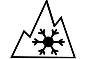 Ob Ihre Allwetterreifen zugelassen sind, erkennen Sie am Alpine-Symbol.