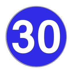 Häufig wird auf der Autobahn die Mindestgeschwindigkeit durch das Verkehrszeichen 275 angezeigt