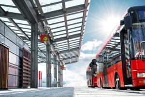 Was ist zu tun, wenn ein Bus die Warnblinkanlage an- bzw. ausgeschaltet hat?