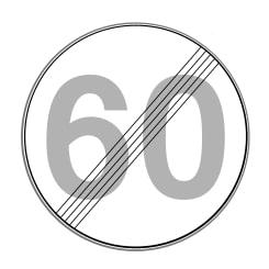 Dieses Verkehrszeichen kann das Ende der Geschwindigkeitsbegrenzung markieren.