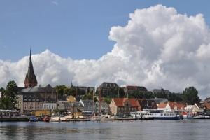 Die Stadt Flensburg: Aufzeichnungsort der Punktetabelle