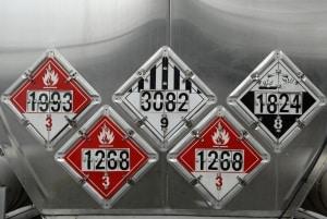 Bei den Gefahrgutklassen sind die UN-Nummern den verschiedenen Stoffen zugeordnet.