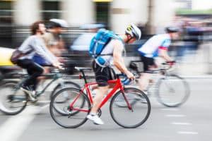 Ein geschlossener Verband kann auch aus Fahrrädern bestehen