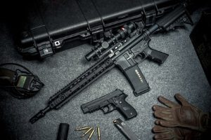 Ein großer Waffenschein wird für erlaubnispflichtige Waffen ausgestellt.