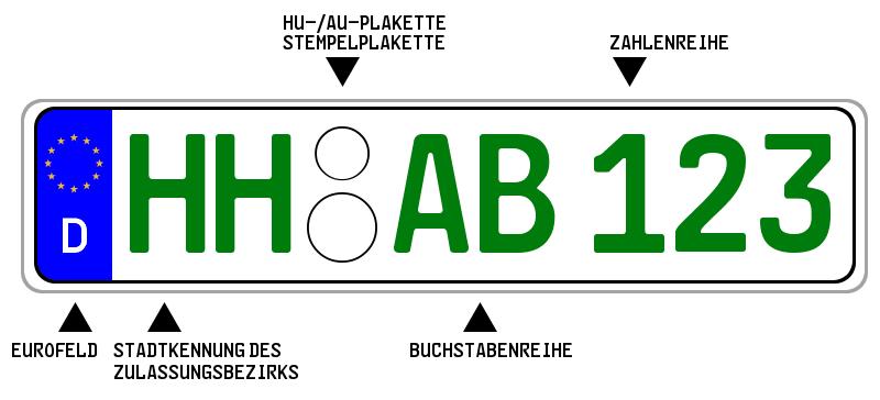 Das grüne Kennzeichen kann für eine bestimmte Gruppe steuerbefreiter Fahrzeuge beantragt werden.