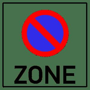 Der nachfolgende Bereich ist eine Halteverbotszone.