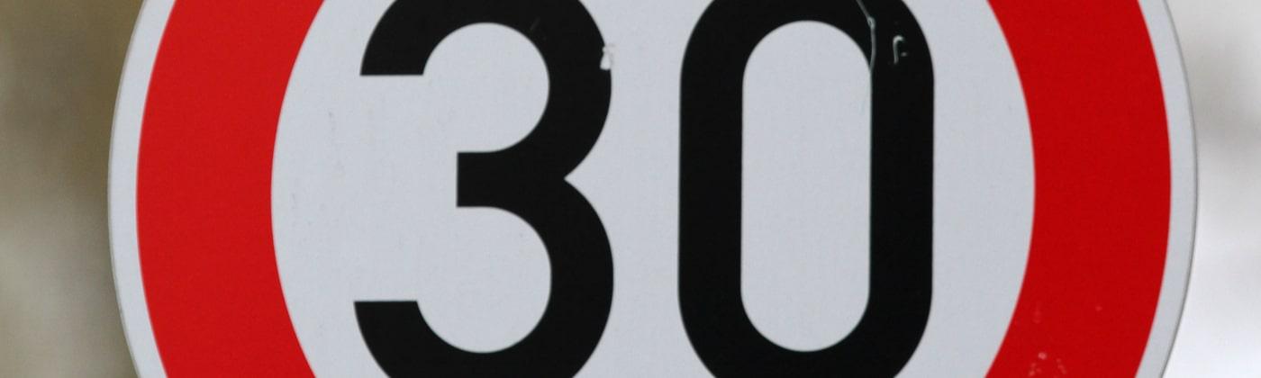 Die 30-Zone soll die Sicherheit im Straßenverkehr erhöhen