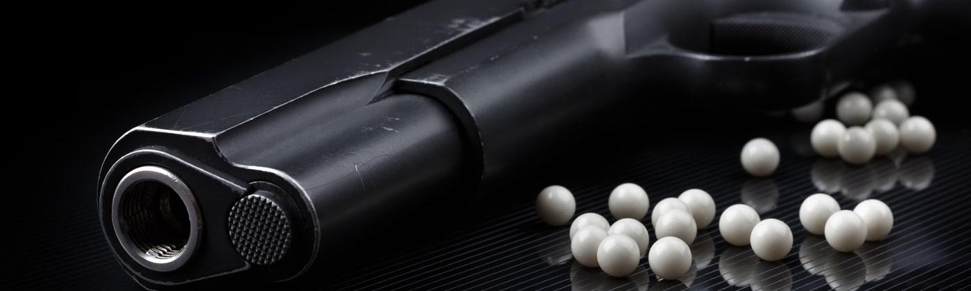 Druckluftwaffen haben eine Geschossenergie von unter 0,5 Joule.