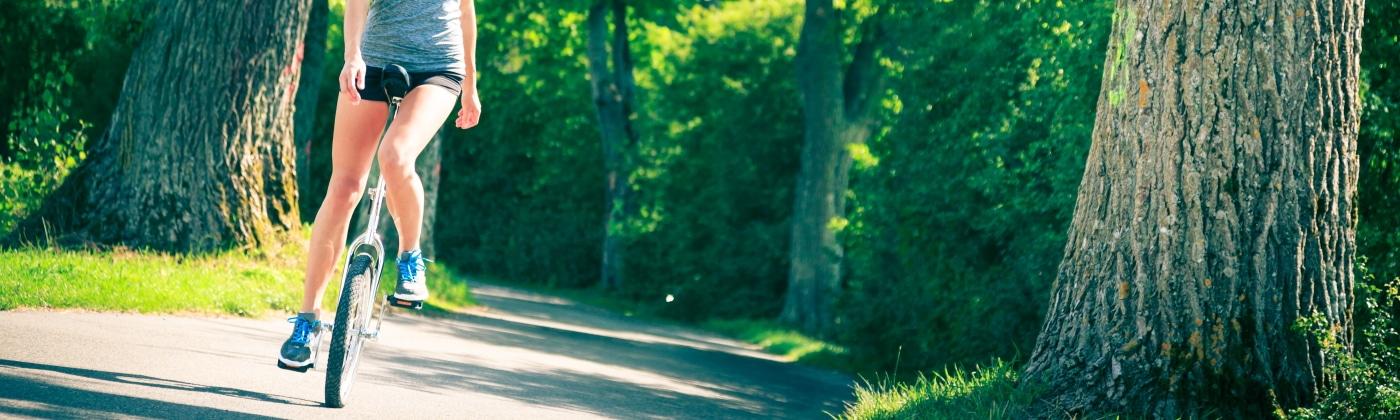 Header Einrad fahren