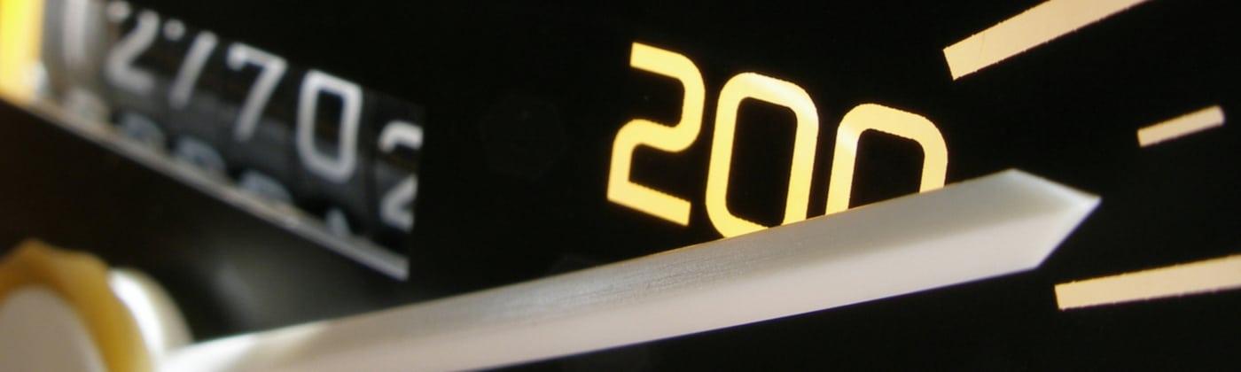 Geschwindigkeitskontrolle: Welche Strafe Ihnen droht, hängt von Ihrem Tempo ab.