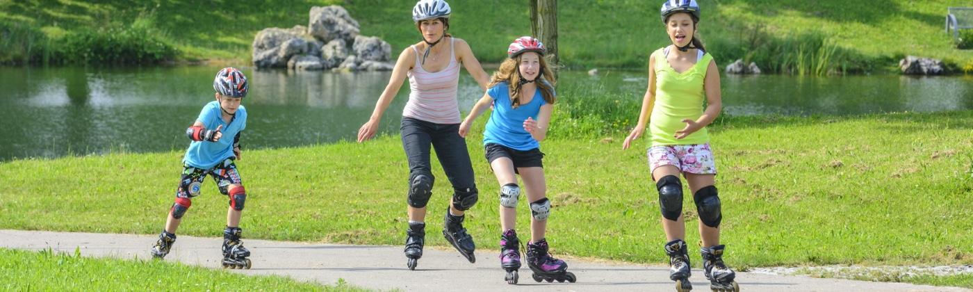 Header Inline-Skates im Straßenverkehr