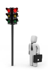 Ein Mindestabstand von einer Ampel kann auch in Zusammenhang mit Fußgängern stehen