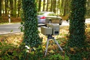 Eine mobile Geschwindigkeitskontrolle kann überall stattfinden.