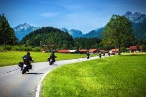 Mit dem Motorrad kann ein Unfall schnell passieren.