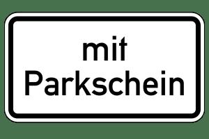 Parken nur mit Parkschein: Ein Schild kennzeichnet ebensolche Bereiche.