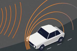 Messung mit Rader: Der Mesta 208 sendet zur Geschwindigkeitsmessung elektromagnetische Wellen aus.