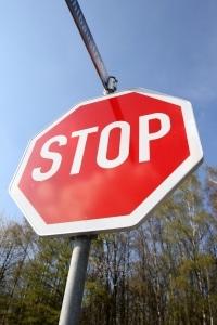 Verkehrsschild: Stoppschild