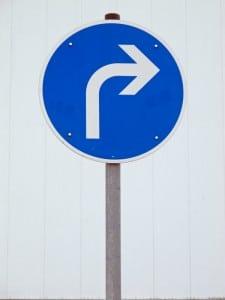 Vorschriftzeichen für Richtung