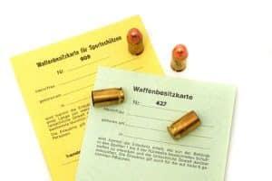 Waffenrechtliche Erlaubnisse sind im Waffengesetz unter Anlage 2 in Deutschland festgehalten.
