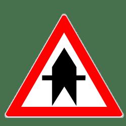 Das Zeichen 301 zeigt laut Verkehrsregeln Vorrang an der nächsten Kreuzung an.